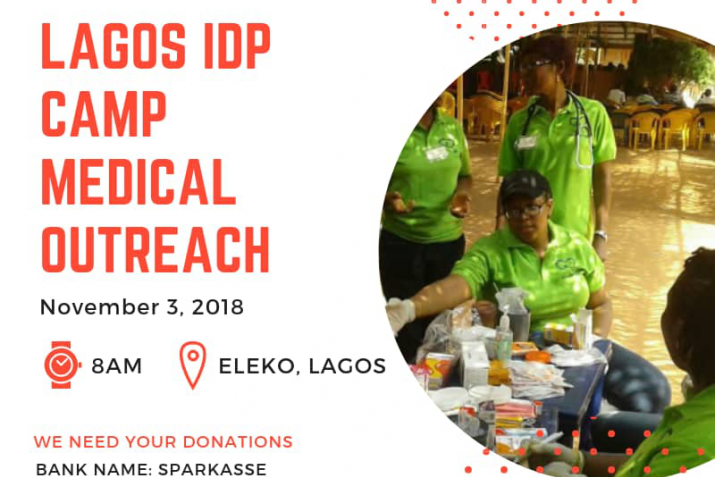 HIIT partnered with DHI for a medical out reach in Eleko, Lagos-Nigeria Nov. There was free consultation and drugs for High Blood pressure, Iron deficiency anemia distributed to patients mostly internally displaced persons from Chibok.